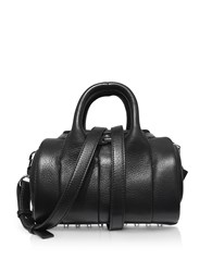 Alexander Wang Handbags Mini Rockie Black Pebbled Leather Satchel Bag