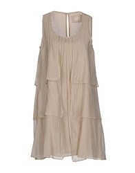 Ekle' Dresses Short Dresses Women Beige