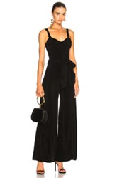 Calvin Rucker Why Don't You And I Jumpsuit In Black