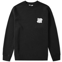 Undefeated Chest Strike Crew Sweat Black