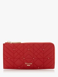 Dune Kevangelina Quilted Zip Around Purse Red