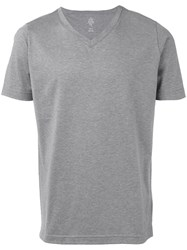 Eleventy V Neck T Shirt Men Cotton M Grey