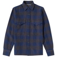 Beams Plus Check Overshirt Blue