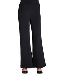 Caroline Rose Wide Leg Crepe Pants Black