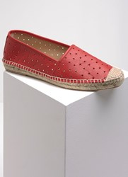 Mint Velvet Amelia Red Star Espadrille Red