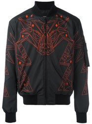 Marcelo Burlon County Of Milan Abstract Print Bomber Jacket Black