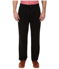 Dockers Signature Khaki D4 Relaxed Fit Pleated Black Stretch Men's Casual Pants