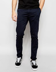 Minimum Slim Chino In Stretch Cotton In Navy Navy
