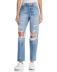 Pistola Presley High Rise Distressed Girlfriend Jeans In Rock Or Bust
