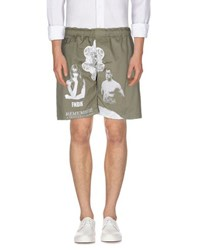 Fifteen And Half Trousers Bermuda Shorts Men Military Green