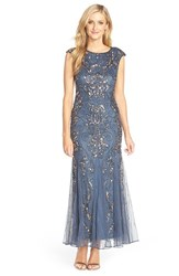 Women's Pisarro Nights Beaded Mermaid Dress Grey