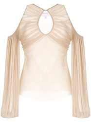 Alice Mccall Spell Cold Shoulder Blouse Neutrals