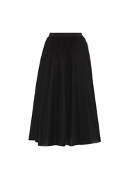 Red Valentino Polka Dot Tulle Midi Skirt