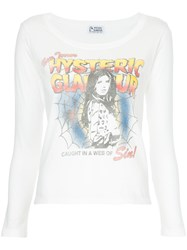 Hysteric Glamour Web Of Sin Print Blouse White