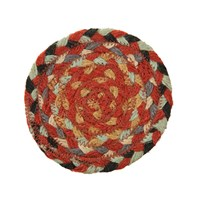 Braided Rug Company Coasters Set Of 6 Chilli