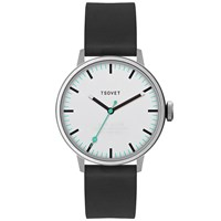 Tsovet Svt Sc38 White And Black Leather Watch