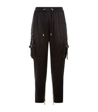 Balmain Satin Joggers Female Black
