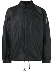 Attachment Drawstring Lightweight Jacket Men Polyester Rayon I Black