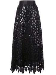 Marc Jacobs Layered Sequin Lace Skirt Black