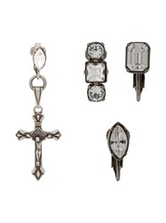 Dsquared2 Cross Earring Set Silver