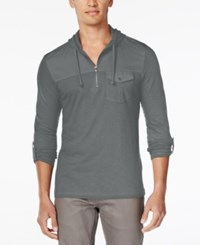 Inc International Concepts Men's Moto Travel Long Sleeve Hoodie Shirt Only At Macy's Heather Grey