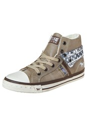 Mustang Hightop Trainers Taupe