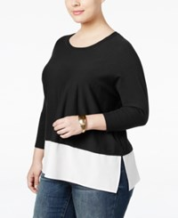Styleandco. Style Co. Plus Size Layered Look Sweater Only At Macy's Deep Black