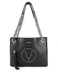 Valentino By Mario Valentino Luisa Studded Leather Tote Bag Black