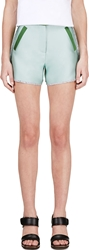 Ostwald Helgason Mint And Forest Green Grey Shorts