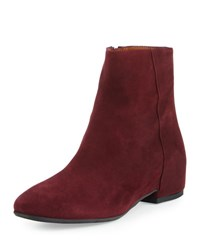Aquatalia By Marvin K Uri Suede Ankle Boot Burgundy
