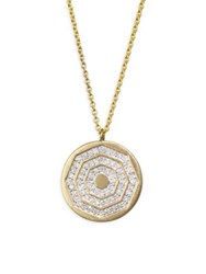 Phillips House Diamond And 14K Yellow Gold Hero Disc Necklace