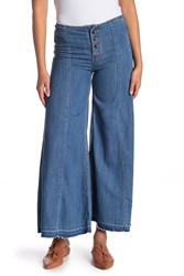 Free People Extreme Wide Leg Jeans Blue