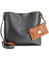 Styleandco. Style Co. Clean Cut Reversible Crossbody Only At Macy's Black Brown