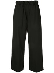 Bassike Plain Cropped Trousers Black