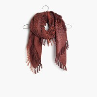 Madewell Tile Jacquard Scarf Afterglow Red