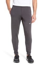 Nike Men's 'Y20' Tapered Fit Dri Fit Running Stretch Pants Anthracite Reflective Silver