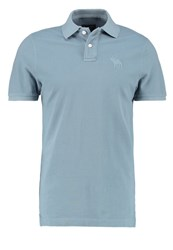 Abercrombie And Fitch Exploded Polo Shirt Light Blue