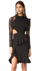 Self Portrait Ophelia Long Sleeve Dress Black