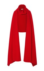 Tomas Maier Oversized Solid Scarf Red