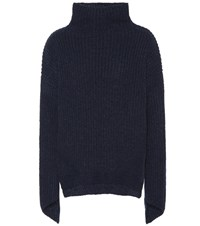 81 Hours Bay Alpaca And Wool Blend Sweater Blue