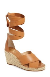 Vince Camuto Women's Leddy Wedge Sandal Tan Leather