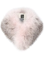 Mr And Mrs Italy Two Tone Fur Collar Pink And Purple