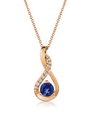 Levian Tanzanite Diamonds And 14K Rose Gold Mobius Pendant Necklace Blue