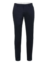 Topman Men's Stretch Twill Ultra Skinny Fit Trousers Dark Blue