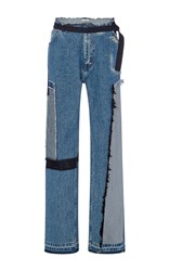 Tome Tailored Jeans With Patches Blue