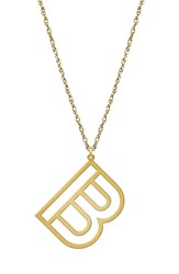 Women's Jane Basch Designs Varsity Initial Pendant Necklace Gold B