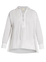 Nili Lotan Shiloh Cotton Poplin Shirt White