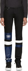 Hood By Air Black Striped Pedro Jeans