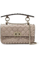 Valentino Garavani The Rockstud Spike Small Quilted Leather Shoulder Bag Blush