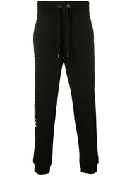Versace Jeans Side Text Track Pants Black